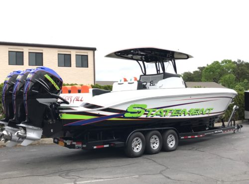 2018 38′ Statement 380 with Triple Mercury 350 Verados